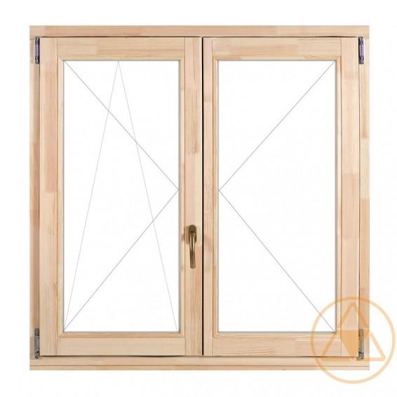 Delta-therm középen-felnyíló bukó-nyíló (KFNY-BNY) normál faablak és fa erkély ajtó