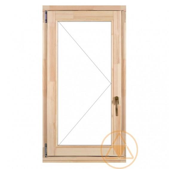 Delta-therm nyíló normál faablak és fa erkély ajtó