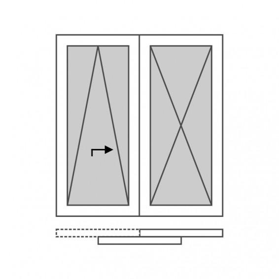 Roplasto 5légkamrás műanyag erkély ajtó (Toló-Bukó)